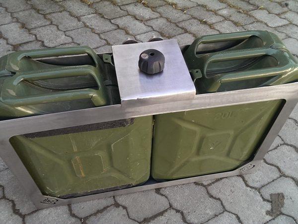Doppel Kanister Halter für MRB-Reserveradhalter 3.0